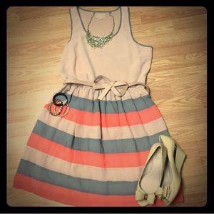 Maison Jules Stripe Dress 👗 w/POCKETS!!!